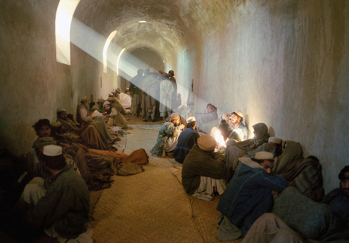 <p>Pakistani jihadis are captured for illegally entering Afghanistan and held in a makeshift prison. By Kate Brooks (2001).</p>