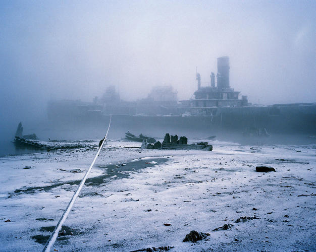 <p>An abandoned ship in the Barents Sea off the coast of Russia, by Simon Roberts (2005).</p>