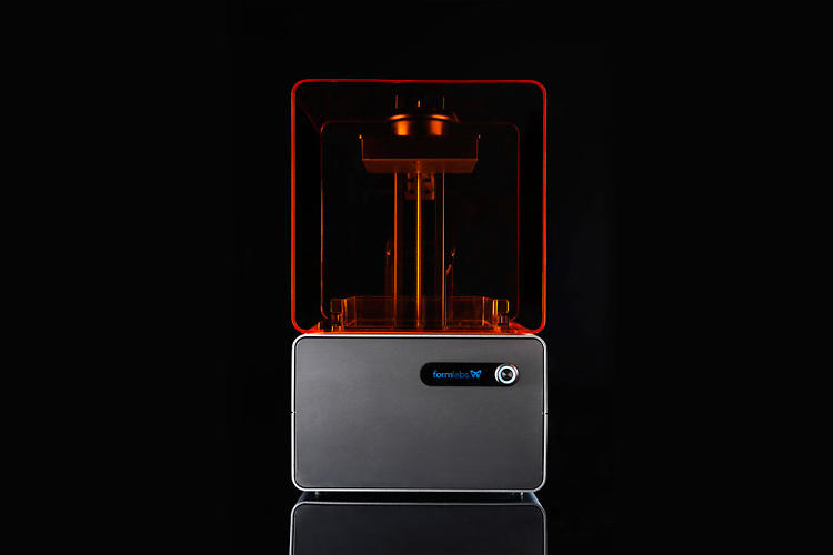 <p>Unlike the Makerbot Replicator and other affordable, extrusion-based machines, the Form 1 uses a stereolithographic process for printing, hardening malleable resin with ultraviolet light.</p>