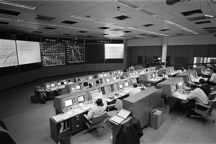 <p><strong>Mission Control</strong><br /> During the Apollo 201, unmanned warm-up mission.</p>