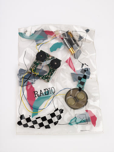<p>Daniel Weil's <em>Radio in a Bag</em> from 1981, which deconstructed the typical 1980s boombox.</p>