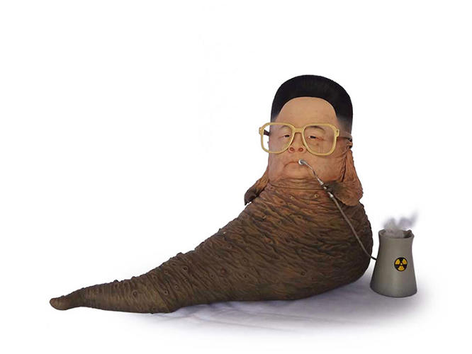 <p>My personal favorite: Kim Jong Il as Jabba the Hutt.</p>