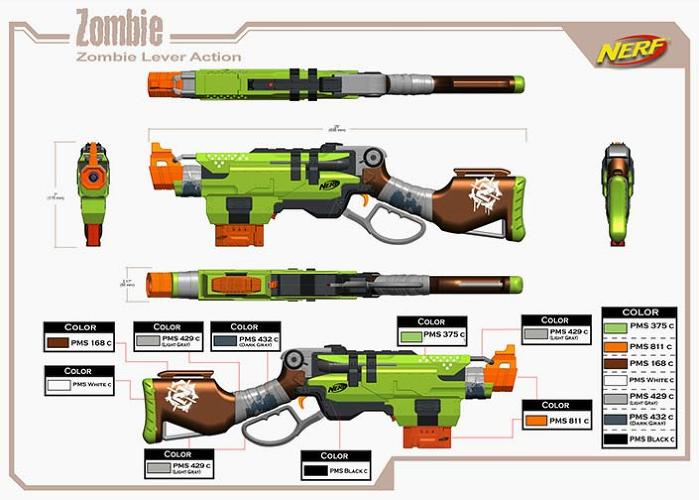 <p>This is what the Slingfire ended up looking like at the end, a much more toy-like blaster evocative of a kid-friendly zombie holocaust.</p>
