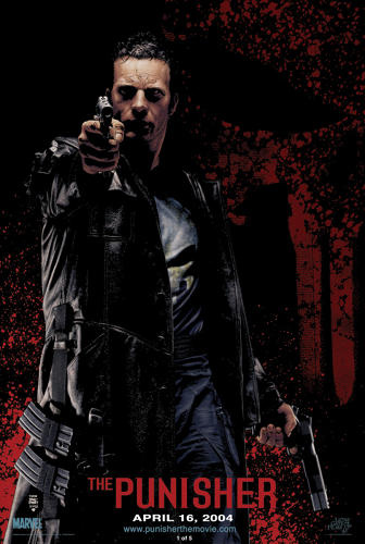 <p>Thomas Jane as the Punisher. Artwork by Tim Bradstreet. The two met at the 2003 photo reference shoot for the posters in this, and the next, shot.</p>