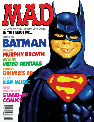 "<p>September, 1989 – Original <em>Mad</em> publisher Bill Gaines had promised the staff to take them to a restaurant of their choice anywhere in the world if they sold a certain percentage of the print run. When this DC Comics spoof approached selling that percentage, the staff picked out a joint in Paris, while Gaines quietly upped the circulation, so they never really had a chance to make the percentage. As consolation, Gaines took them to the still tony, but local Gotham Bar and Grill. Despite the fact that DC now owns <em>Mad</em>, ""we spoof them all the time,"" says Ficarra.</p>"