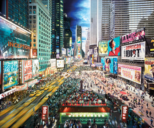 <p>The average person processes more data in a single day than a person in the 1500s did in an entire lifetime. This dusk to mid-morning image of New York's Times Square took nearly three months blending more than 1,400 separate photos taken over 15 hours.</p>