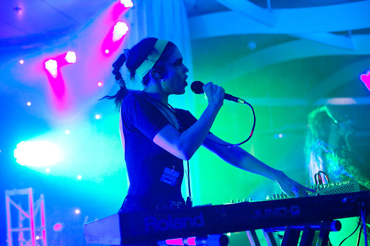 <p>Grimes treated the crowd to her layered, sonic sweetness during two sets at the Sky Lounge.</p>