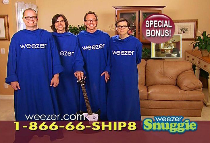 <p>In the year 2009, Billy Mays-pitched wearable comforter, the snuggie, was often discussed in an ironic context. It was something that didn't quite need to exist, was more fun to make fun of than practical, and yet everyone could sort of see themselves using the thing. Somehow, Weezer decided this was a branding opportunity they wanted to be a part of, and lo and behold, the <a href=&quot;http://&quot; target=&quot;_blank&quot;></a>was born.</p>