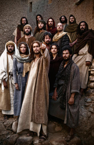 <p>Jesus and his disciples</p>