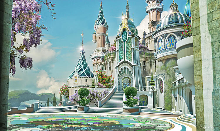 <p>When James Franco's low-rent circus magician Oscar Diggs crash-lands near Emerald City, he's stunned by outrageously colorful flowers sprouting in Whimsie Woods. Stromberg notes, &quot;This was a tribute to going from black-and-white to Technicolor. In 1939, <em>Wizard of Oz </em>used this amazing three-strip Technicolor. People's eyes were blown out because they'd never seen color like it, so we played with that concept of going (from black-and-white) to really vivid color to jar the senses.&quot;</p>