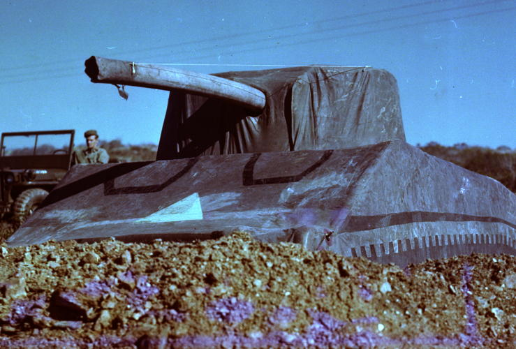 <p>A 93-pound inflatable tank. Hundreds of these were used by the Ghost Army.</p>