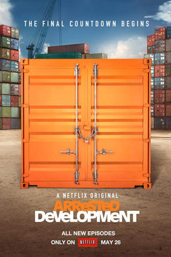 "<p>The first teaser posters served up more intrigue. The first one featured a bright orange shipping container with the words: ""The Final Countdown Begins,"" a reference to GOB Bluth's illusionist theme song.</p>"