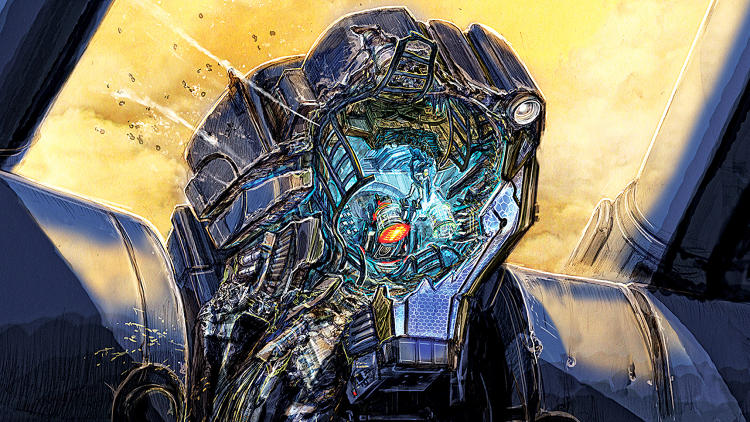 <p>Jaeger Head, Smashed Head</p>
