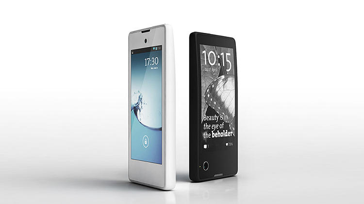 <p>The YotaPhone is a dual-sided phone with an LCD display and E Ink electronic paper display.</p>