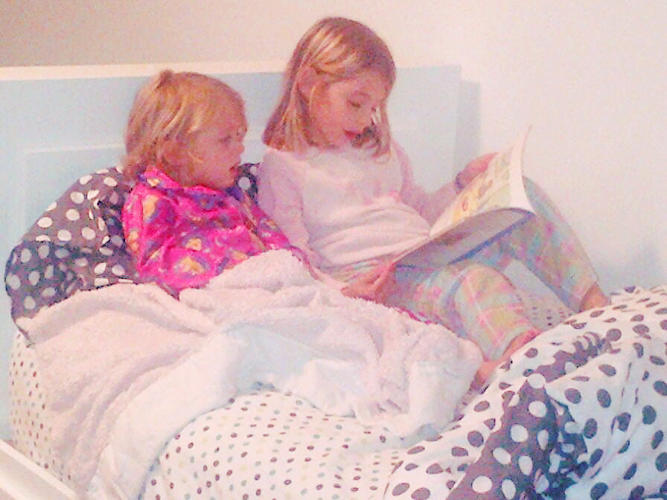 <p>the <a href=&quot;http://twitter.com/freifeld10/status/356809777084522497/photo/1&quot; target=&quot;_blank&quot;>first time</a> my big girl read to my little girl before bed…on her own</p>