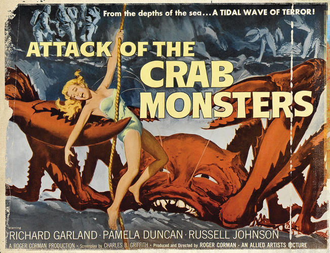 <p>Poster of <em>Attack of the Crab Monsters</em> (1957)</p>