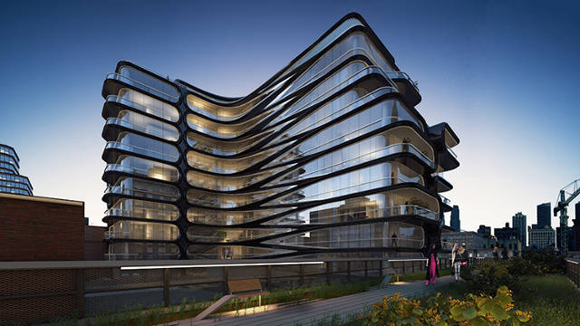 From Fast Co: Zaha Hadid's 520 28th Street -- near the High Line