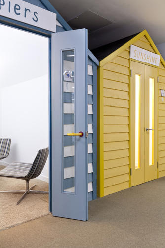 <p>The Sunshine cabin, where employees can discuss important Google problems: cobalt or navy?</p>