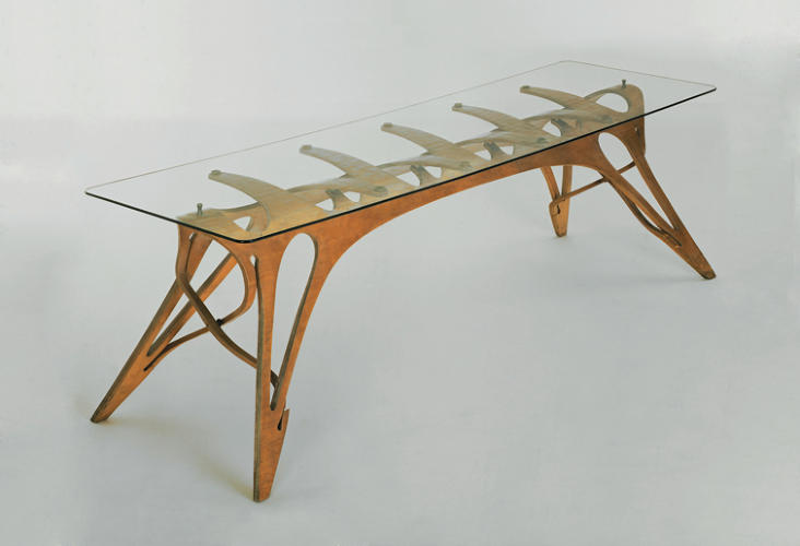 <p>This mid-century  oak-and-glass table sold at auction for a whopping $3.8 million in 2005. That was a before-crash price, of course, but as Lindemann tells it, furniture by Mollino -- a beloved Italian architect and designer -- is still plenty robust.</p>