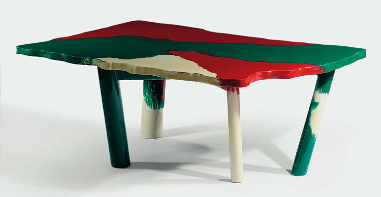 <p>Another Italian favorite among design doyens, Pesce was obsessed with creating furniture out of a single material -- resin -- as the table at left shows. New York dealer Murray Moss compares him to &quot;a painter or a musician who stays with the same tools… brilliant, always surprising and always new.&quot;</p>