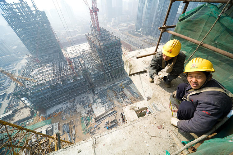 <p>Baan thinks of the structure as a backdrop to the larger drama of China's building boom.</p>