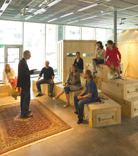 <p>Increasingly, meeting rooms resemble classrooms and vice versa. &quot;In terms of design, workplaces and learning outfits are both doing the same thing,&quot; van Meel says. &quot;The idea that learning is important in an organization has become a mainstream accepted idea. You see spaces now that show that.&quot;</p>