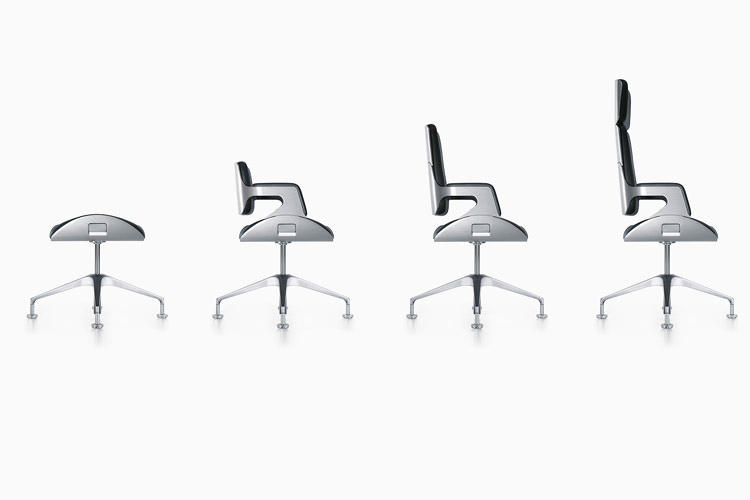 <p>Silver 262S office chair by Hadi Teherani for Interstuhl (2003).</p>