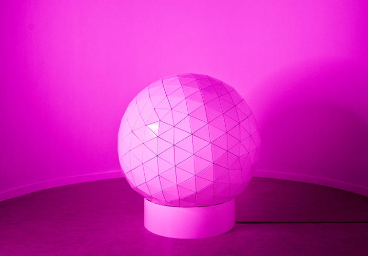 <p>Grasso's 525 (2007) is a Buckminster Fuller-like geodesic sphere that references the shape of receiving stations in the Echelon network. The Echelon network is a global surveillance system reportedly set up to spy on the Soviet Union and the Eastern Bloc during the Cold War. Today, it is said to monitor terrorists, drug lords, hostile foreign governments, and other threats to national security.</p>