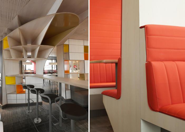 Zut alors mcdonald 39 s unveils high design concept store in for Local interior design firms