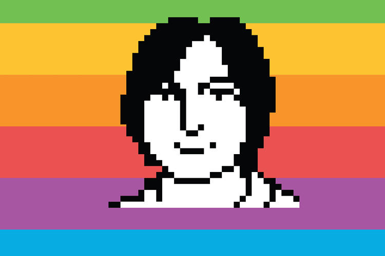 <p>An icon in 32 x 32 pixels, created using MacPaint on the original Macintosh computer while the subject posed for his portrait.</p>