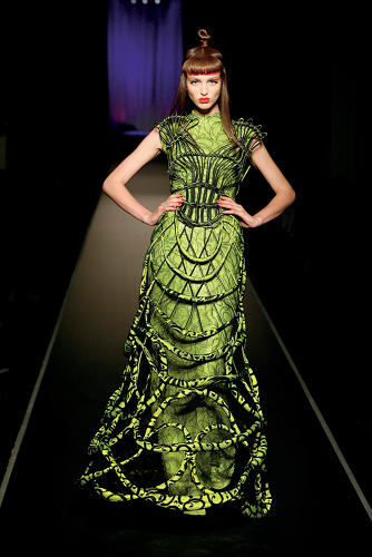 <p>A gown from Gaultier's Fall/Winter 2008-2009 collection.</p>