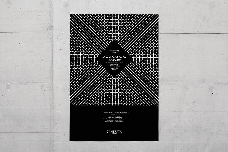 <p>Demian Conrad wanted to find a way to visualize sound for the graphic identity of the Camerata Lausanne. The eye-catching patterns were inspired by the work of Ernst Chladni.</p>