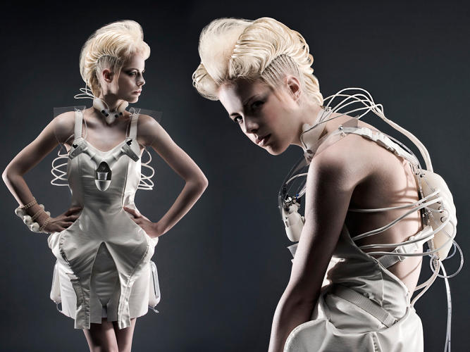 <p>Anouk Wipprecht's cocktail-dispensing cocktail dress pours booze from the wearer's chest, when triggered. Coming soon to Hooters?</p>