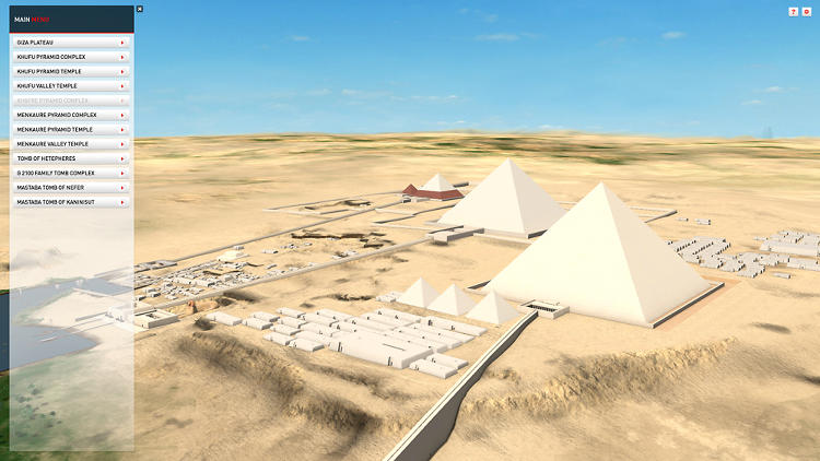 <p>Dassault Systèmes' 3D reconstruction of the Giza Plateau using Harvard University and Museum of Fine Arts Boston Expedition archives from 1905.</p>
