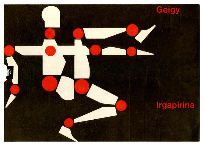 <p>Mailer for Geigy designed by Max Schmid, 1951</p>