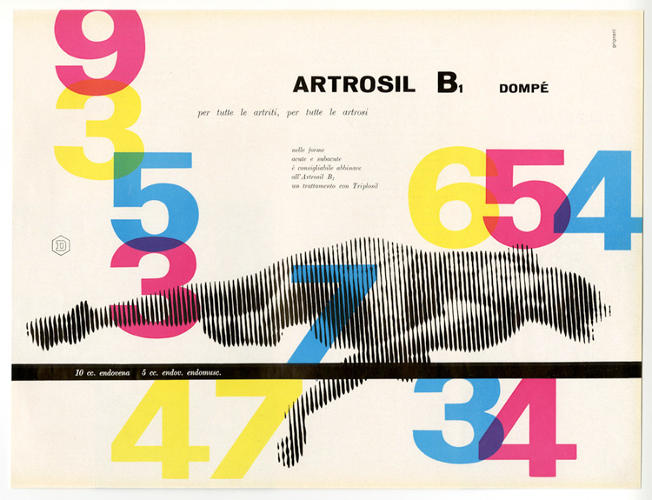 <p>Ad for Dompe by Franco Grignani, 1954</p>