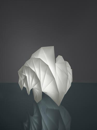 Issey miyake turns plastic bottles into glowing origami for Artemide issey miyake