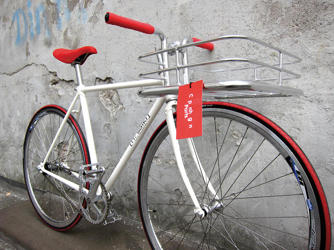 <p>The Danish design studio launched the independent bicycle brand Copenhagen Parts in 2009, with the aim of attracting a large customer base while maintaining their credibility as a supplier to the underground bike community. Along with the identity, Goodmorning Technology custom-designed the Bike Porter, a handlebar with an integrated basket.</p>