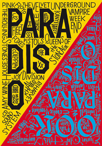 <p>Posters for Paradiso, Amsterdam. Assisted by Alaric Garnier. AO, silkscreen (by Kees Maas), 2011.</p>