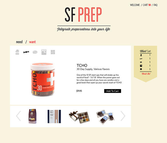 <p>Yes, it's super &quot;San Francisco&quot; to include artisanal chocolate in an earthquake kit.</p>