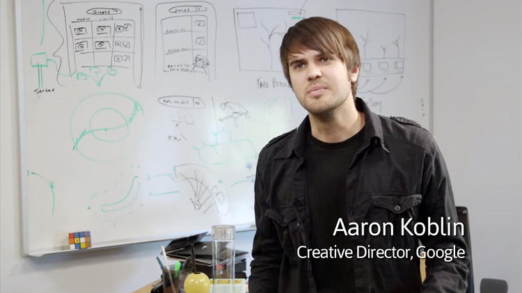 <p>Aaron Koblin, Creative Director of the Google Data Arts team.</p>