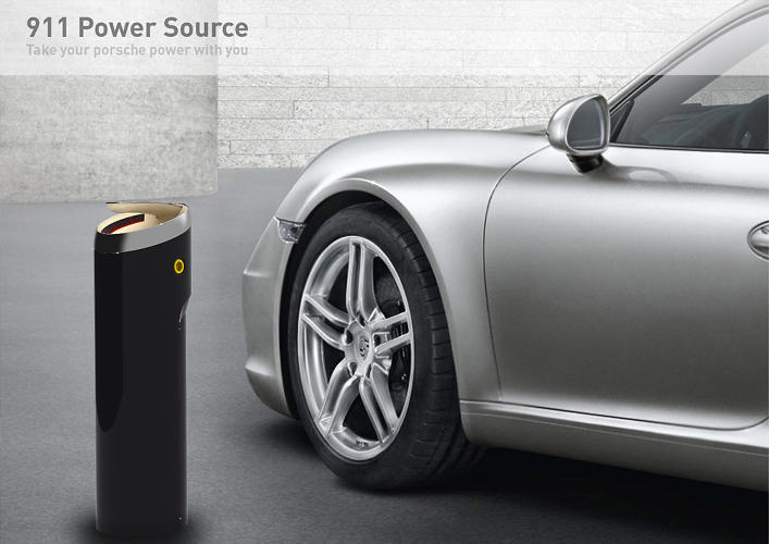 <p>Guy Ceder chose to keep his Power Source idea--for a removable Porsche battery--largely unchanged.</p>