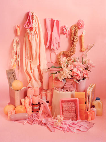 <p>It seems natural that pink objects share a gendered subtext.</p>