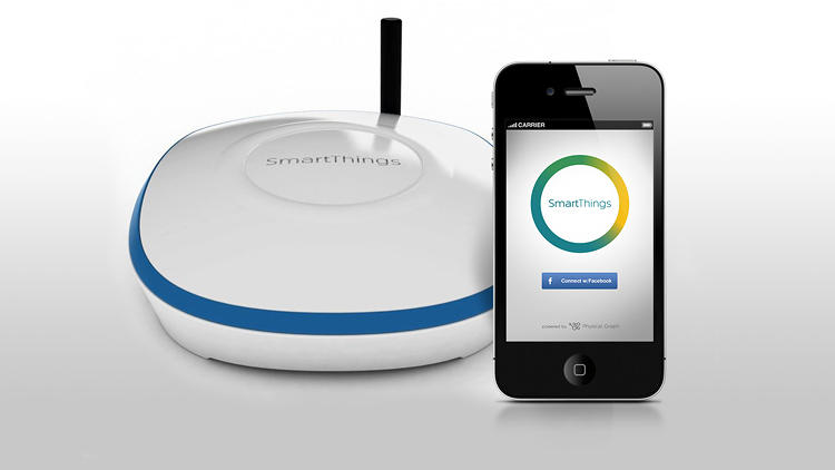 <p>The center of a SmartThings network is its cloud-connected hub.</p>