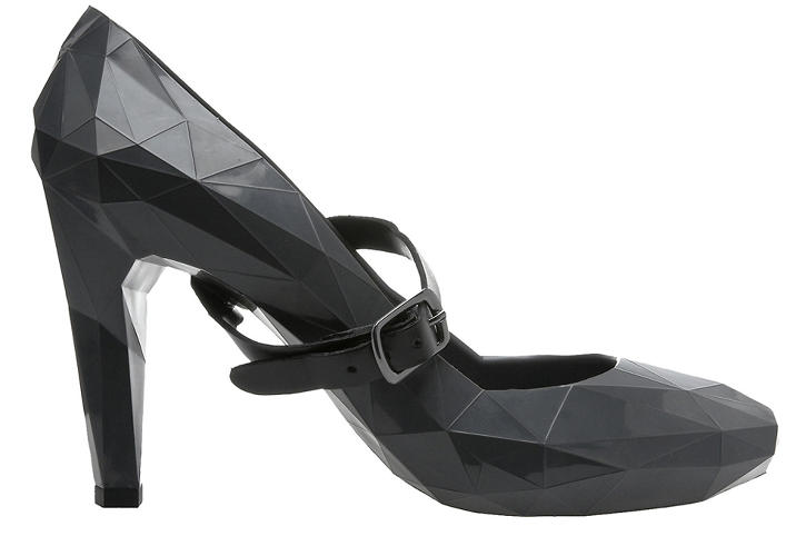 <p>Another icon in United Nude's line: The Low Res pump, which alludes to the faceted look of low-resolution architectural renderings.</p>