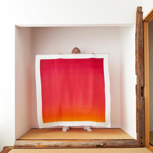 <p>The Hermès team selected 20 of the Polaroids and printed them onto massive squares of silk--each measuring 22 feet square.</p>