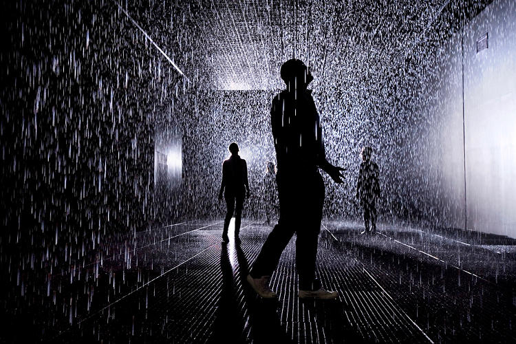 <p><em>Rain Room</em>, an installation by digital art collective Random International, is an indoor gallery where it's continuously raining.</p>
