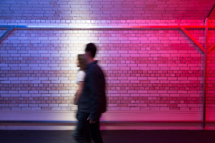 <p>Walk the Light tracks pedestrians and highlights them in a beam of photons.</p>
