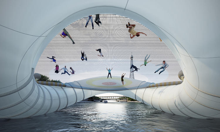<p>The trampoline bridge did, however, take third place in the competition.</p>