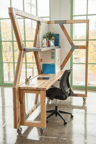 <p>On one hand, it's your standard, modern modular workstation…</p>